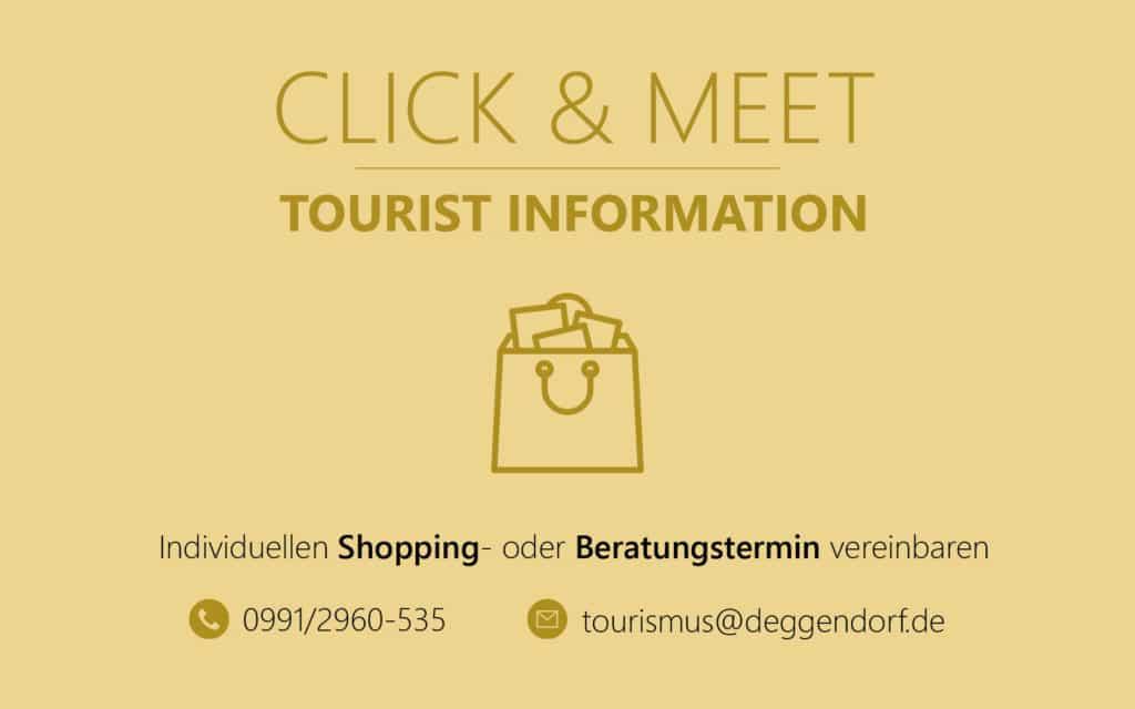 EInkaufstaschen-Symbol zu Click & Meet der Touristinformation Deggendorf
