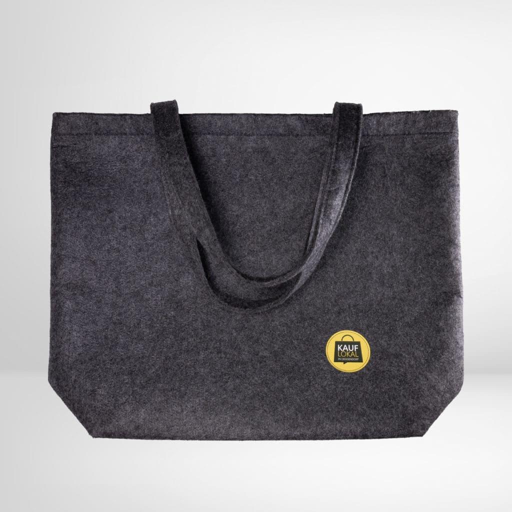 Felt Shopper - Filz Einkaufstasche mit Aufdruck