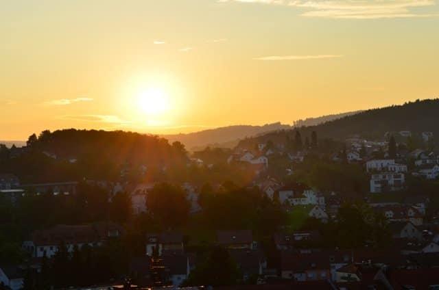 Morgensonne über Deggendorf