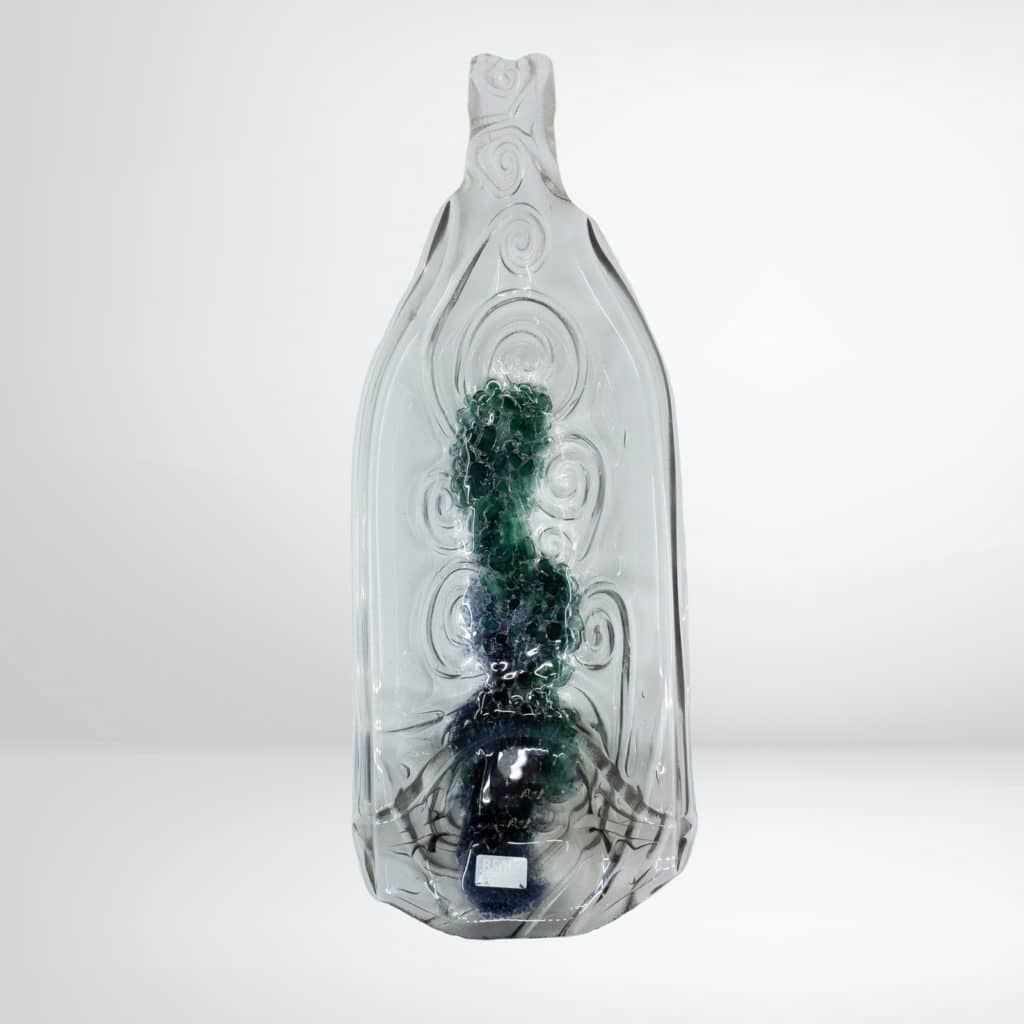 Glasschale in Flaschenform aus dem Regionalshop Deggendorf