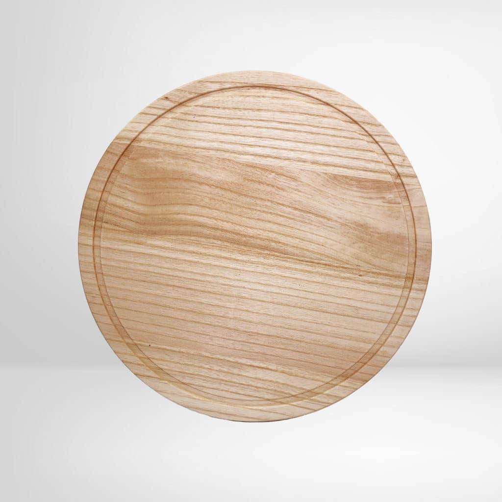 Holzteller mit Rille 26cm aus Deggendorf